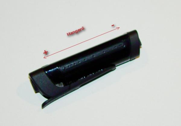A headset különlegessége, a hangerő állító érintőpanel