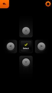 A kontroller telefonon, ha akarjuk egér helyett ezzel is navigálhatunk az alkalmazáson belül