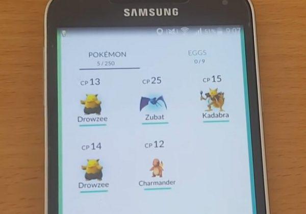 pokemon go count